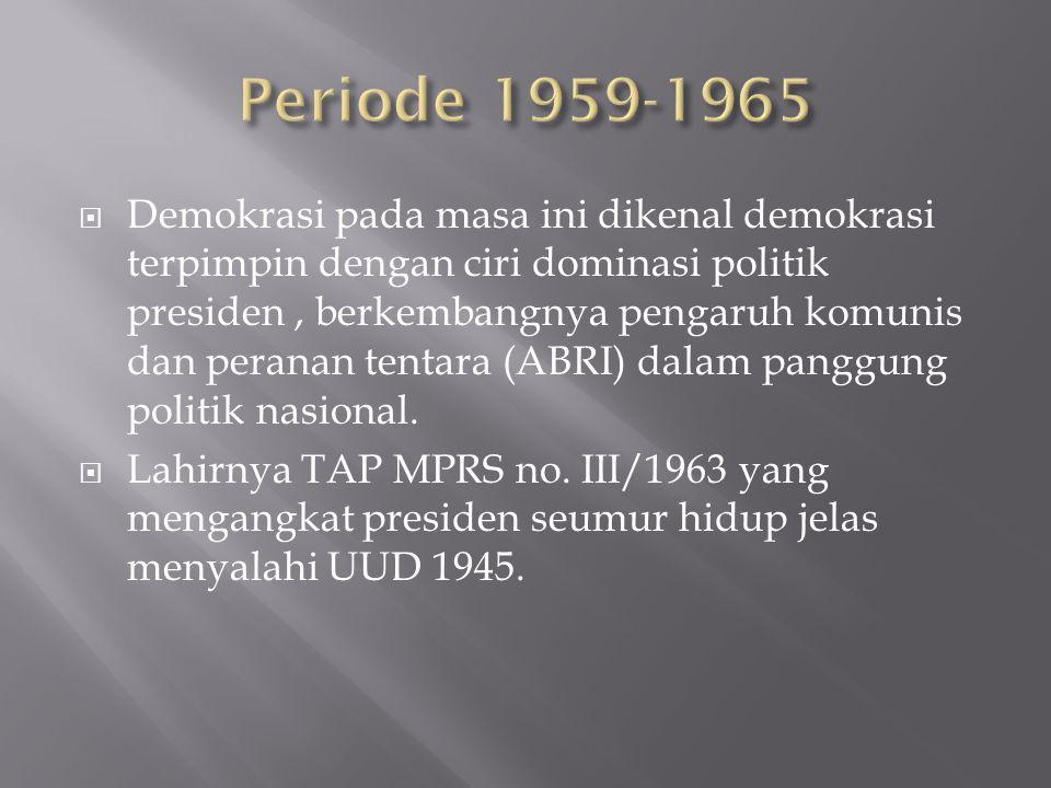 Periode 1959-1965
