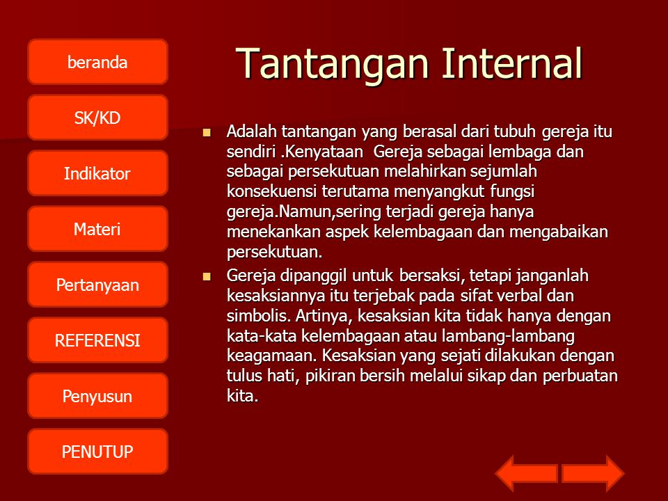 Tantangan Internal