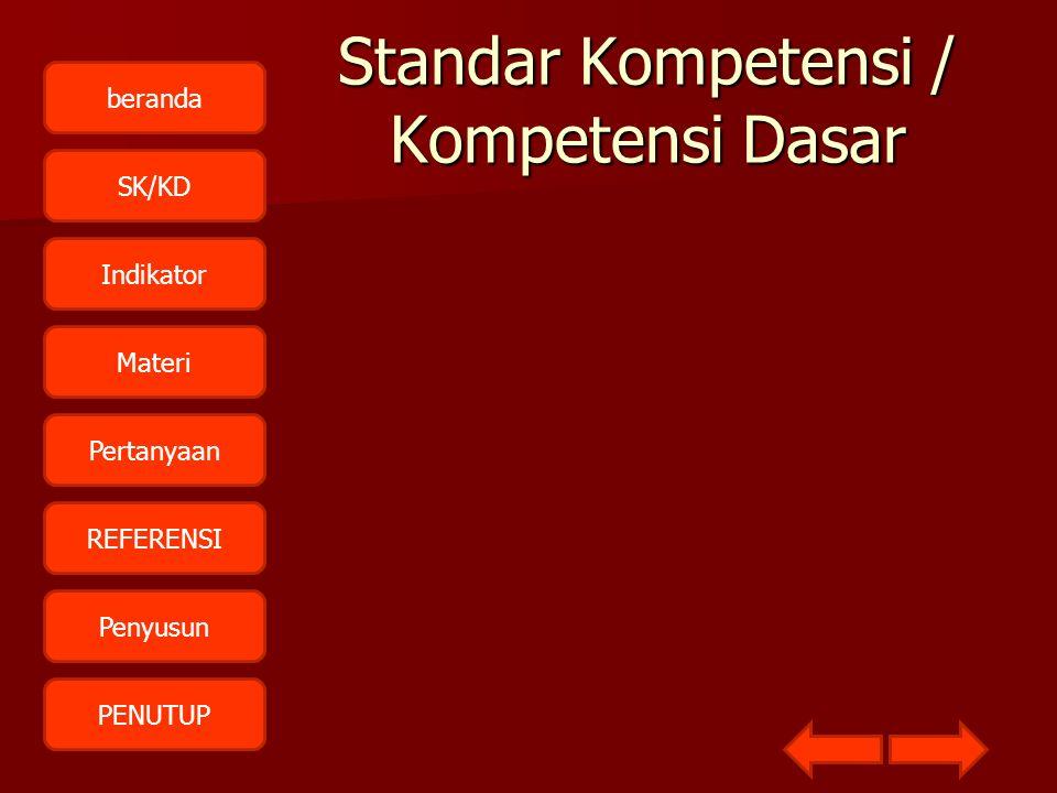 Standar Kompetensi / Kompetensi Dasar