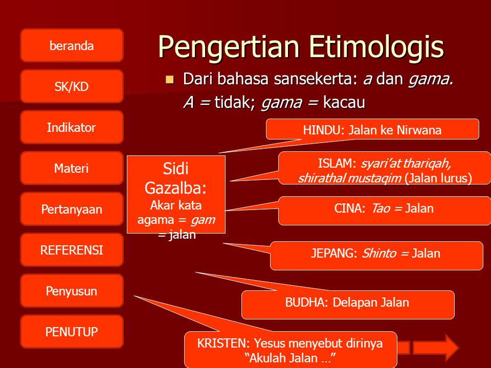 Pengertian Etimologis