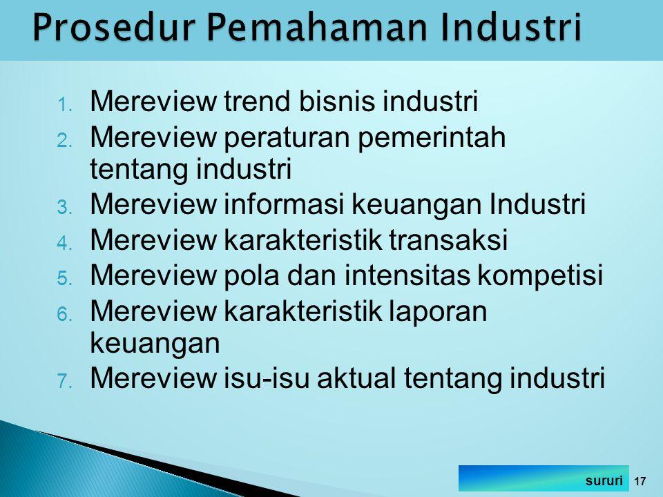 Prosedur Pemahaman Industri