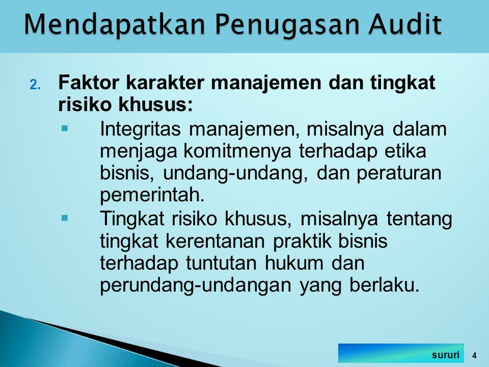 Mendapatkan Penugasan Audit
