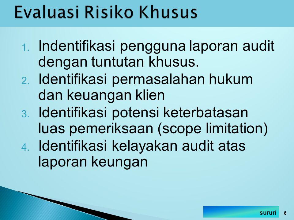 Evaluasi Risiko Khusus
