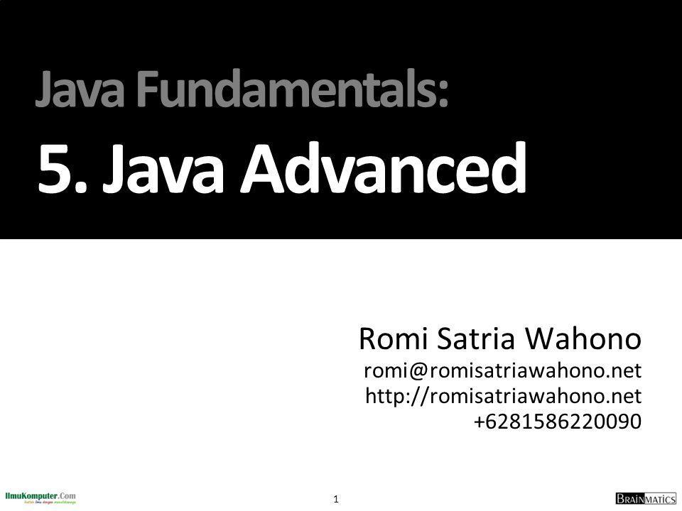 Java Fundamentals: 5. Java Advanced