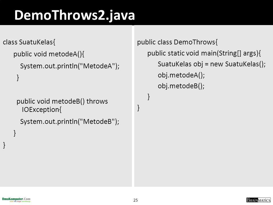 DemoThrows2.java