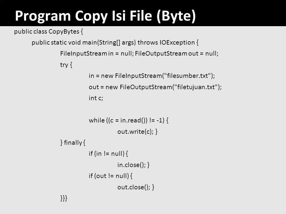 Program Copy Isi File (Byte)