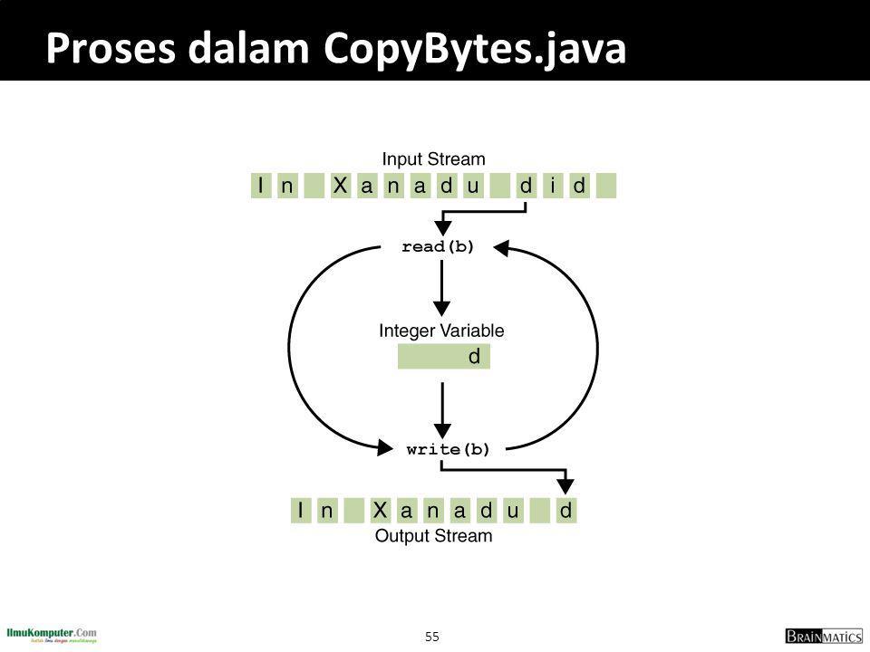 Proses dalam CopyBytes.java