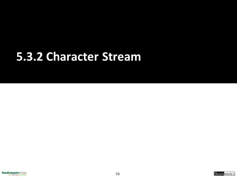 5.3.2 Character Stream