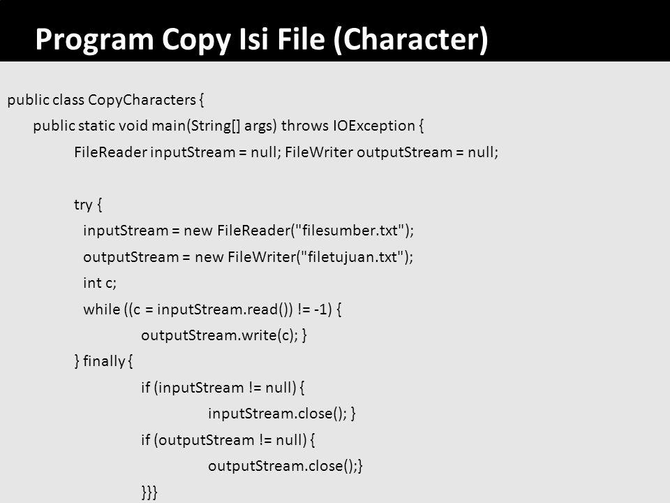Program Copy Isi File (Character)