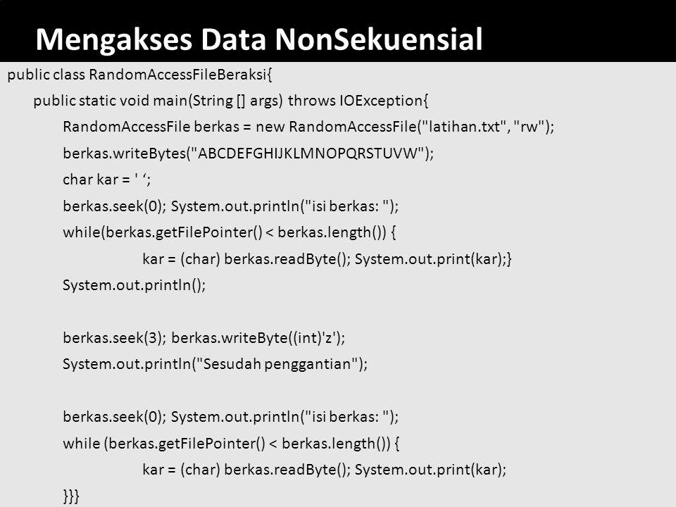 Mengakses Data NonSekuensial