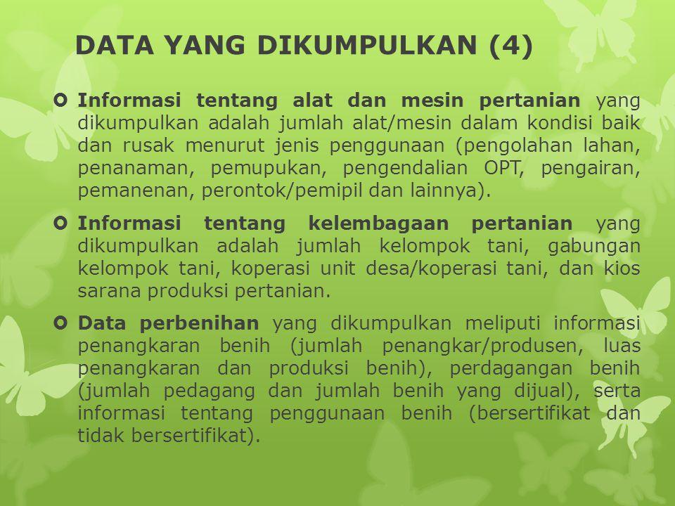 DATA YANG DIKUMPULKAN (4)