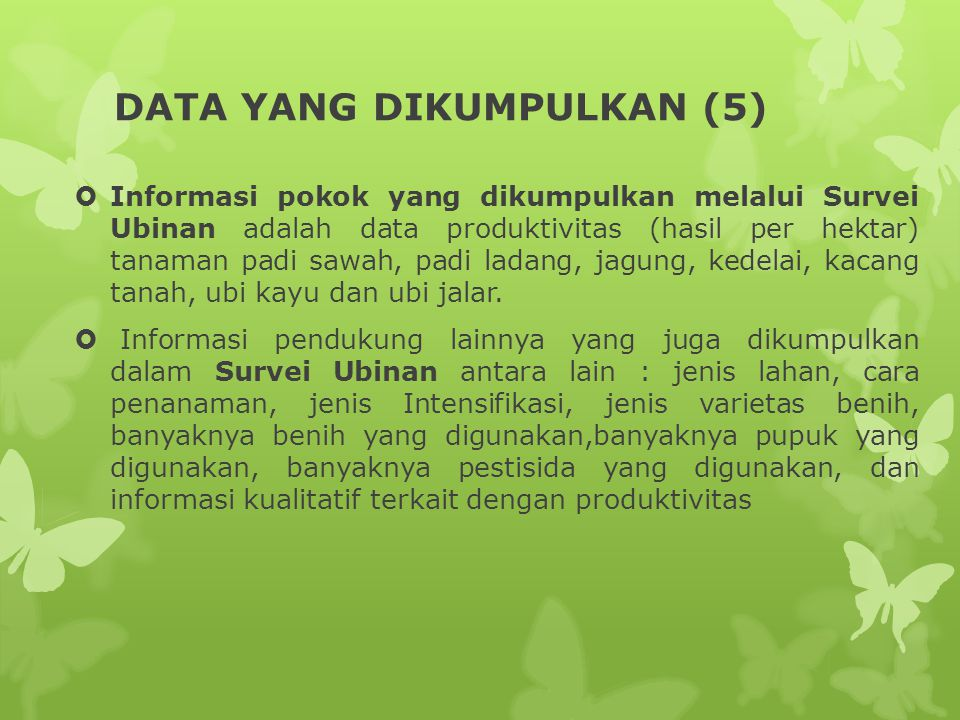 DATA YANG DIKUMPULKAN (5)