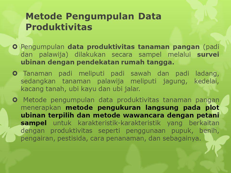Metode Pengumpulan Data Produktivitas