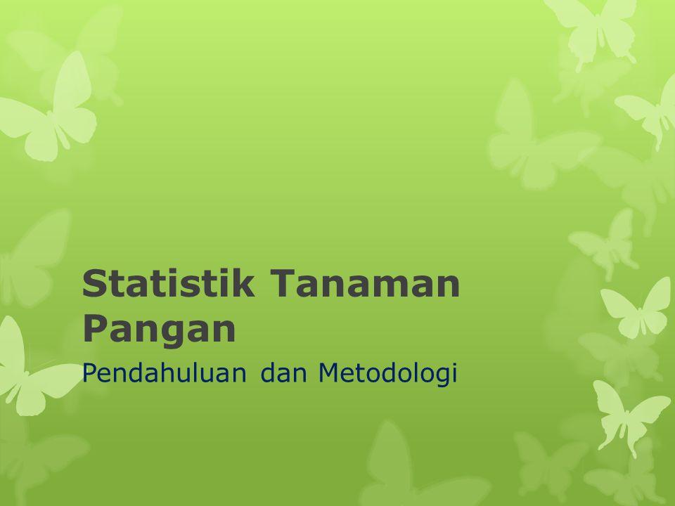 Statistik Tanaman Pangan