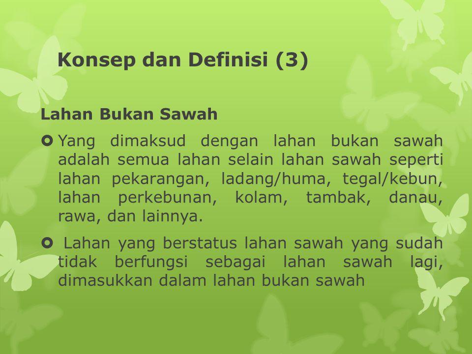 Konsep dan Definisi (3) Lahan Bukan Sawah