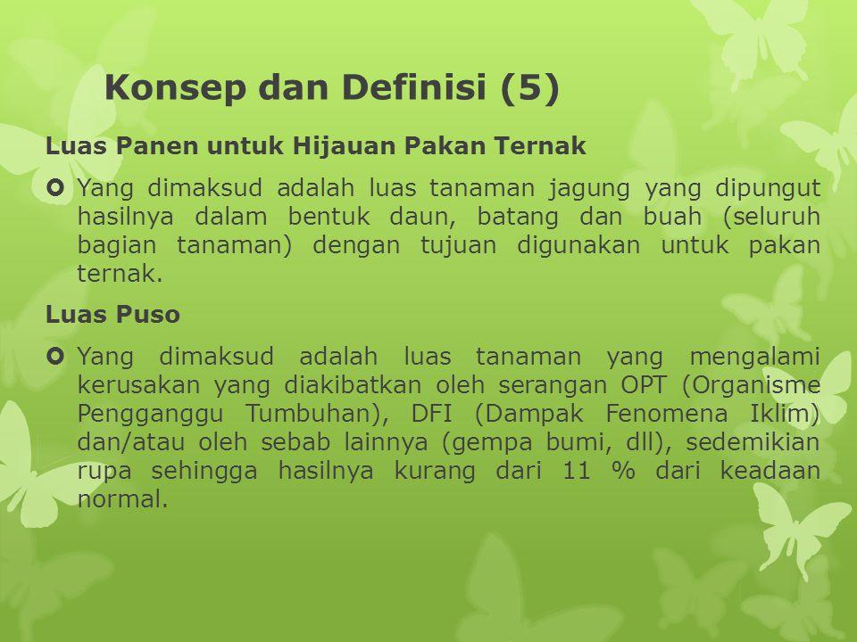 Konsep dan Definisi (5) Luas Panen untuk Hijauan Pakan Ternak