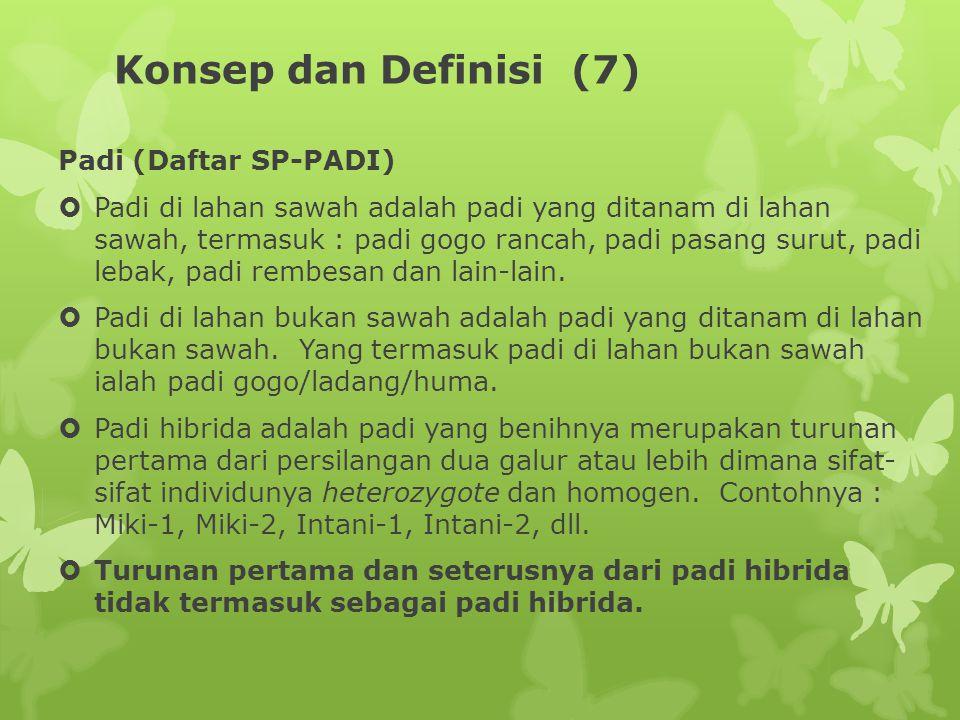 Konsep dan Definisi (7) Padi (Daftar SP-PADI)
