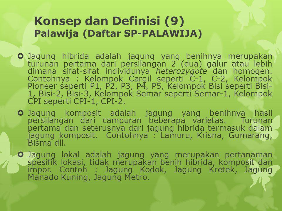 Konsep dan Definisi (9) Palawija (Daftar SP-PALAWIJA)