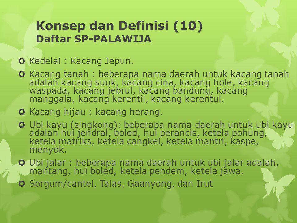 Konsep dan Definisi (10) Daftar SP-PALAWIJA