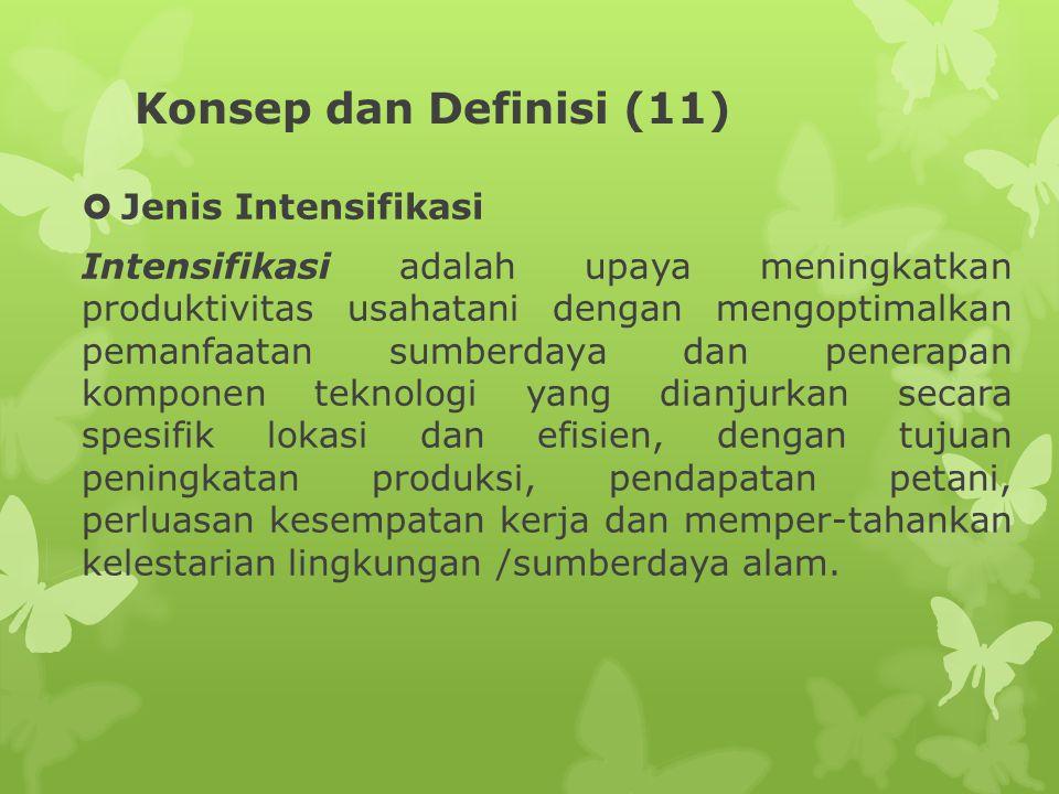 Konsep dan Definisi (11) Jenis Intensifikasi