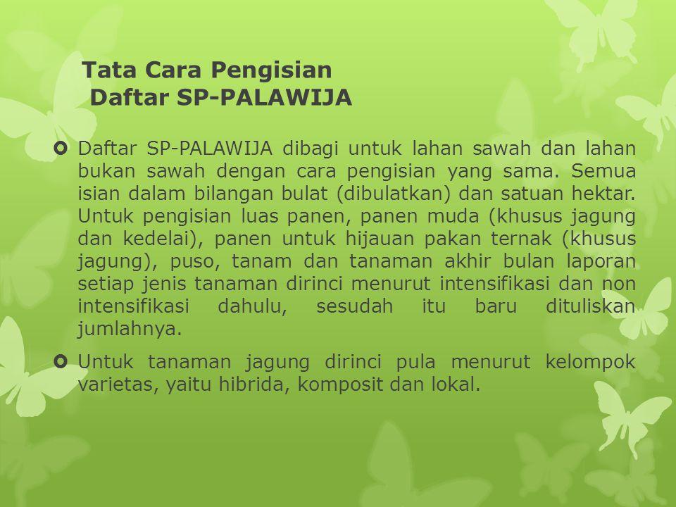 Tata Cara Pengisian Daftar SP-PALAWIJA