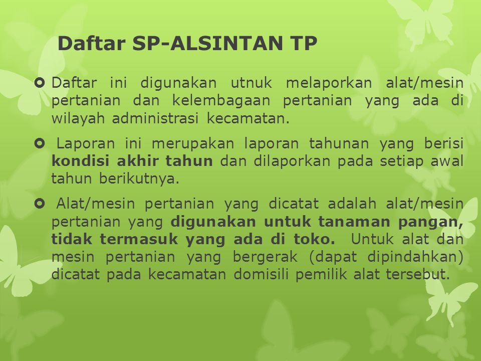 Daftar SP-ALSINTAN TP