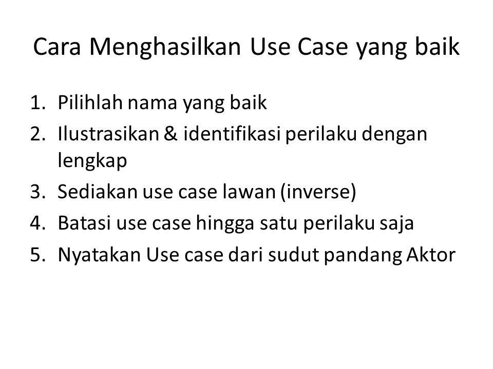 Cara Menghasilkan Use Case yang baik