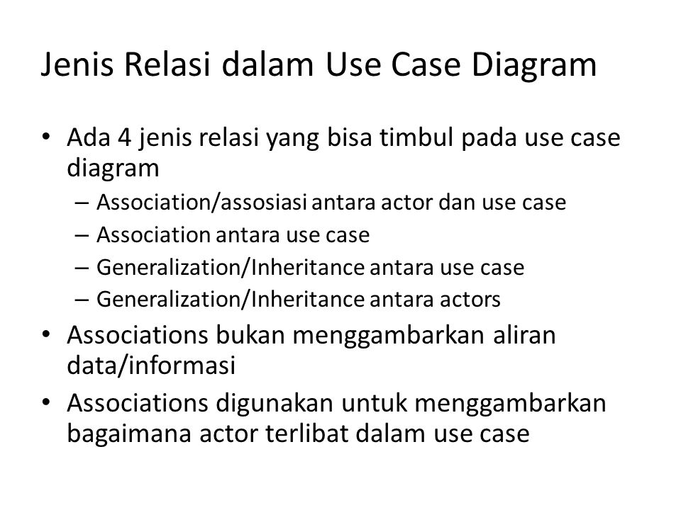 Jenis Relasi dalam Use Case Diagram