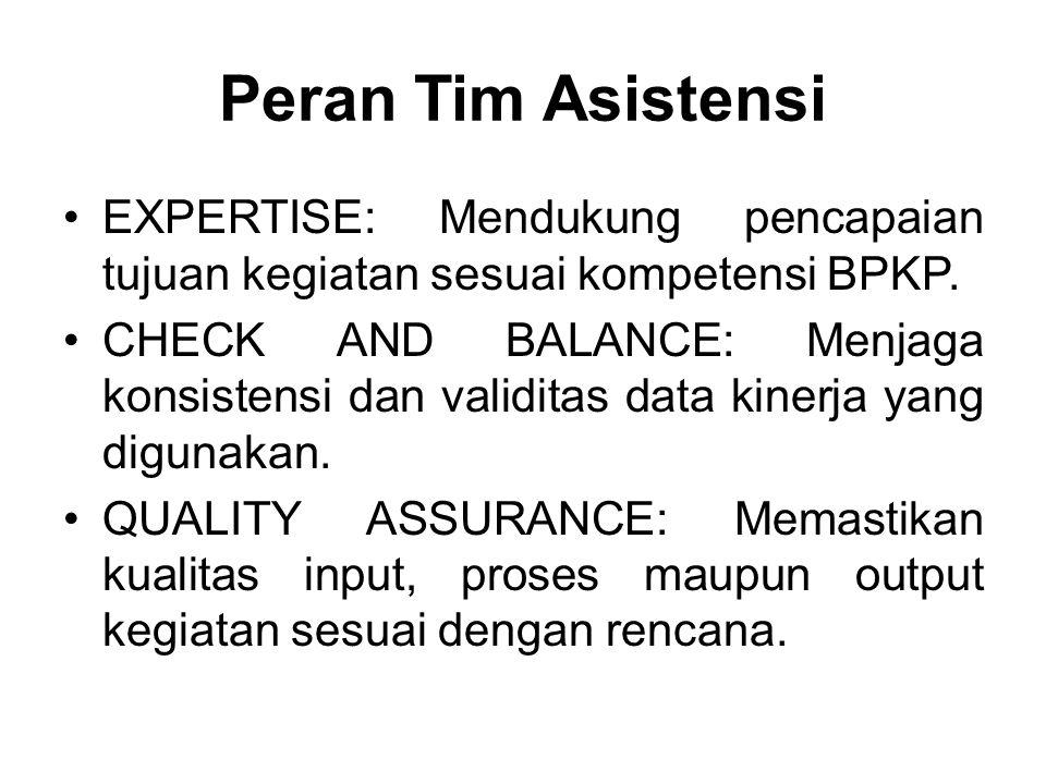 Peran Tim Asistensi EXPERTISE: Mendukung pencapaian tujuan kegiatan sesuai kompetensi BPKP.