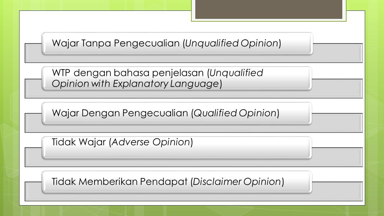 Wajar Tanpa Pengecualian (Unqualified Opinion)