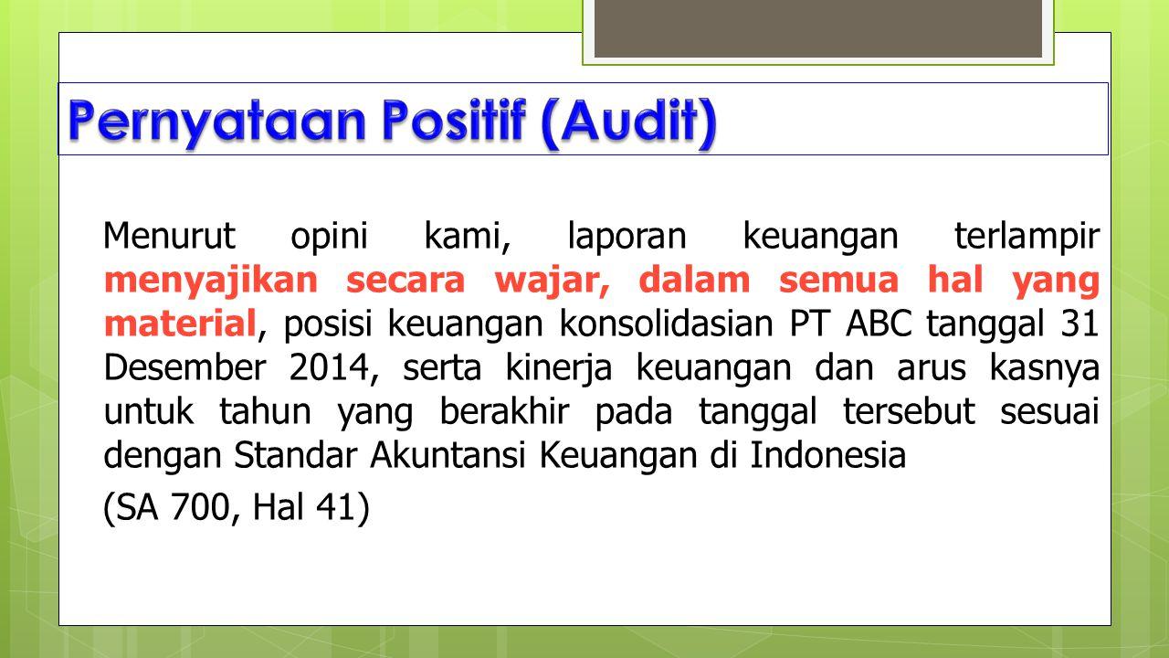 Pernyataan Positif (Audit)