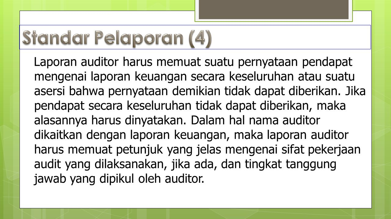 Standar Pelaporan (4)