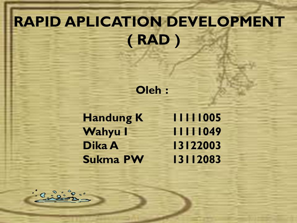 RAPID APLICATION DEVELOPMENT ( RAD )