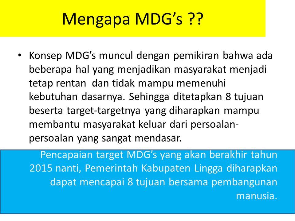 Mengapa MDG's