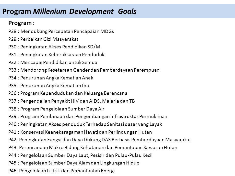 Program Millenium Development Goals
