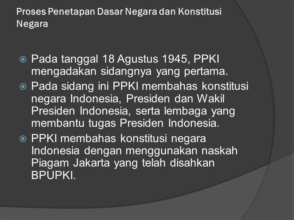 Proses Penetapan Dasar Negara dan Konstitusi Negara
