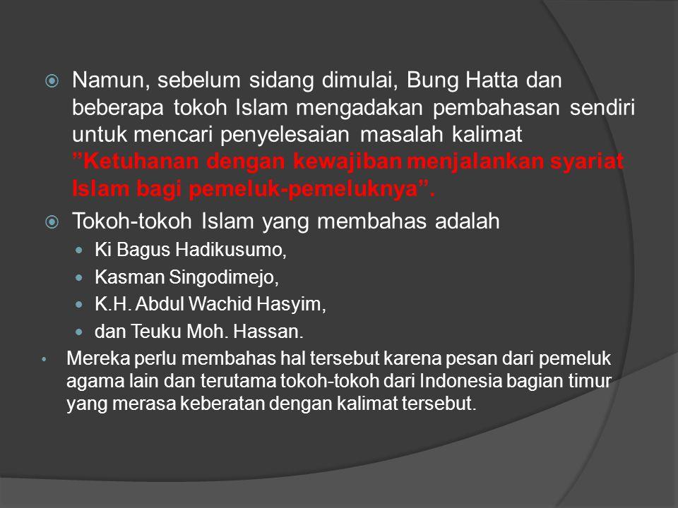 Tokoh-tokoh Islam yang membahas adalah