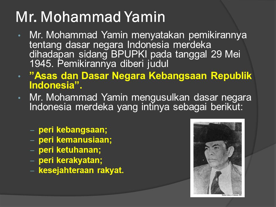 Mr. Mohammad Yamin