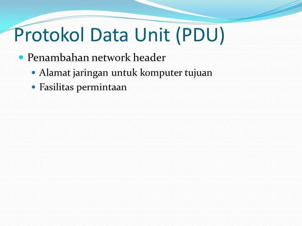Protokol Data Unit (PDU)