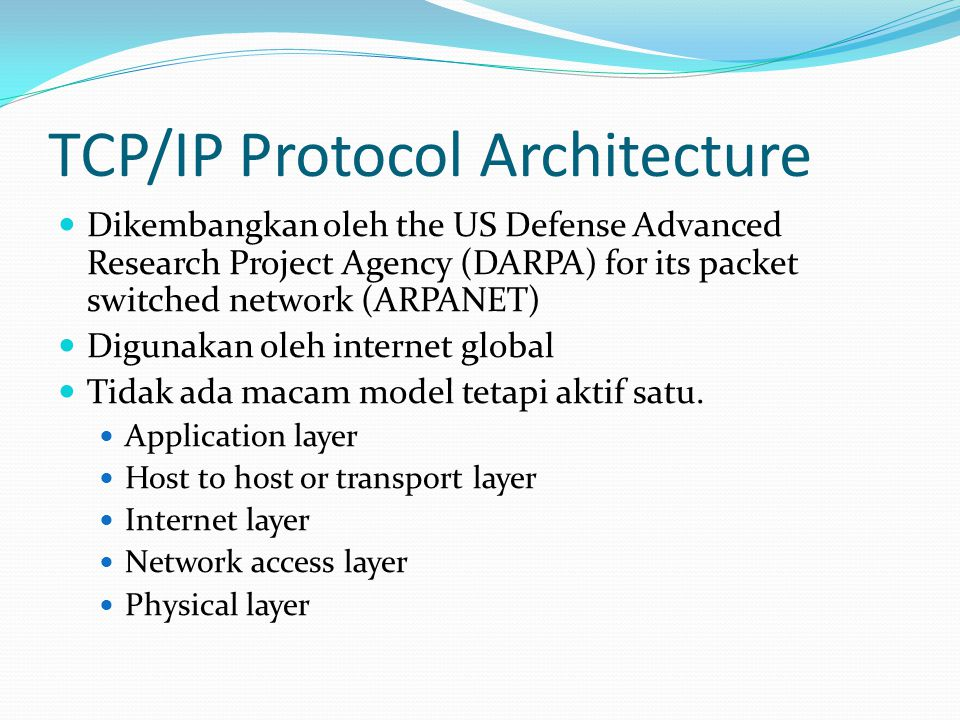 TCP/IP Protocol Architecture