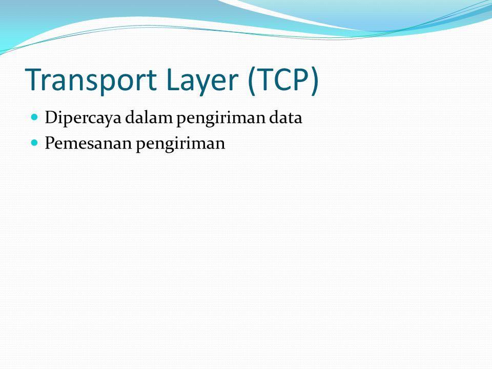 Transport Layer (TCP) Dipercaya dalam pengiriman data