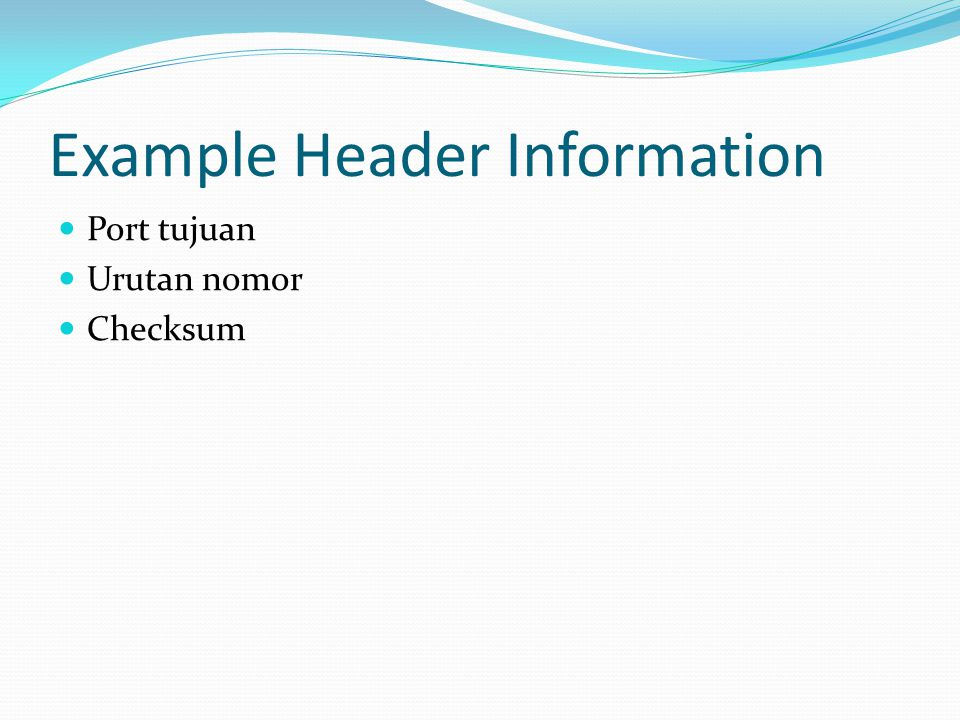 Example Header Information