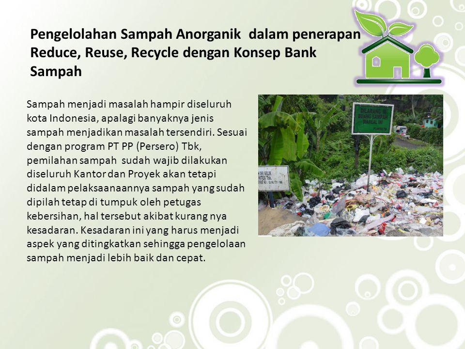Pengelolahan Sampah Anorganik dalam penerapan Reduce, Reuse, Recycle dengan Konsep Bank Sampah