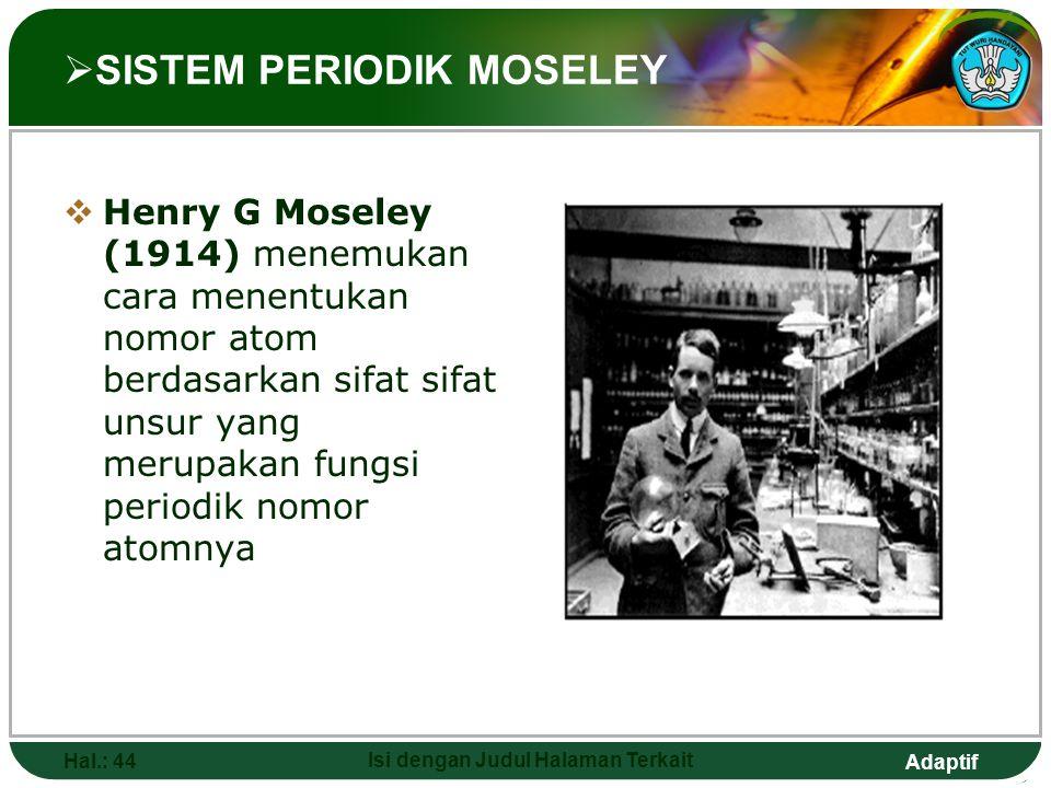 SISTEM PERIODIK MOSELEY