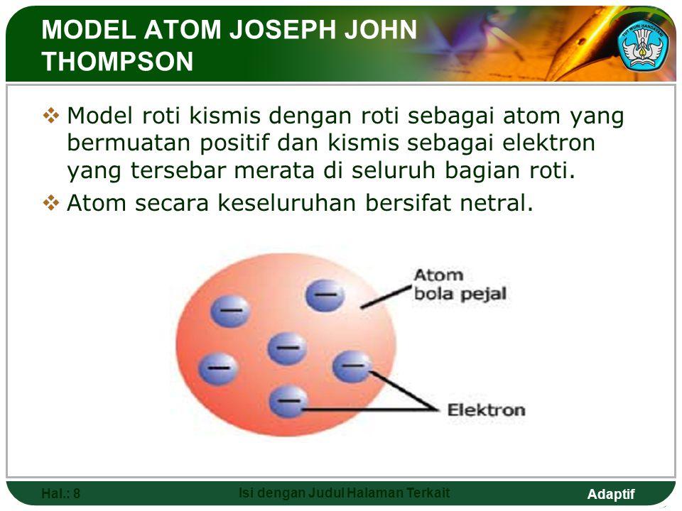MODEL ATOM JOSEPH JOHN THOMPSON