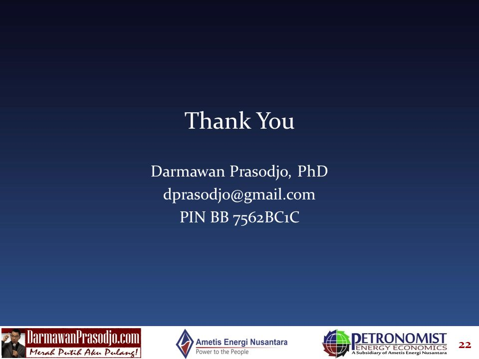 Thank You Darmawan Prasodjo, PhD PIN BB 7562BC1C