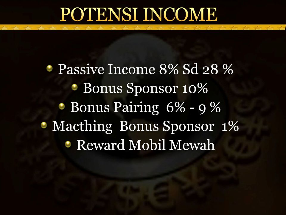 Macthing Bonus Sponsor 1%