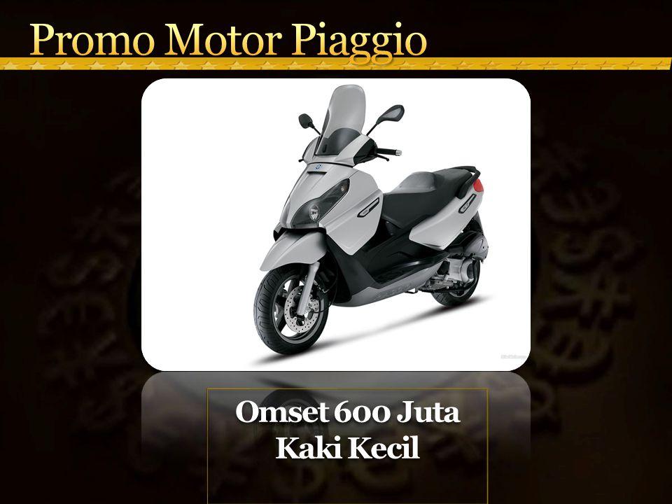 Promo Motor Piaggio Omset 600 Juta Kaki Kecil