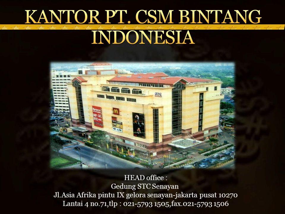 KANTOR PT. CSM BINTANG INDONESIA