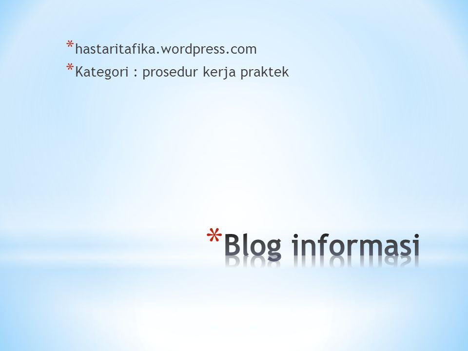 Blog informasi hastaritafika.wordpress.com